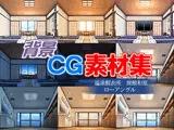 著作権フリー背景CG素材「温泉脱衣所 旅館和室 ローアングル」