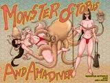 怪物蛸と海女ダイバー